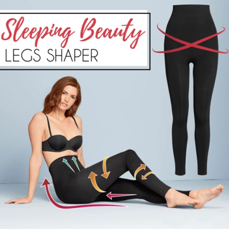 New Women Leggings Sleeping Beauty Legs Shaper Legging Socks Slimming Leg Hip Up Pants Black DO99