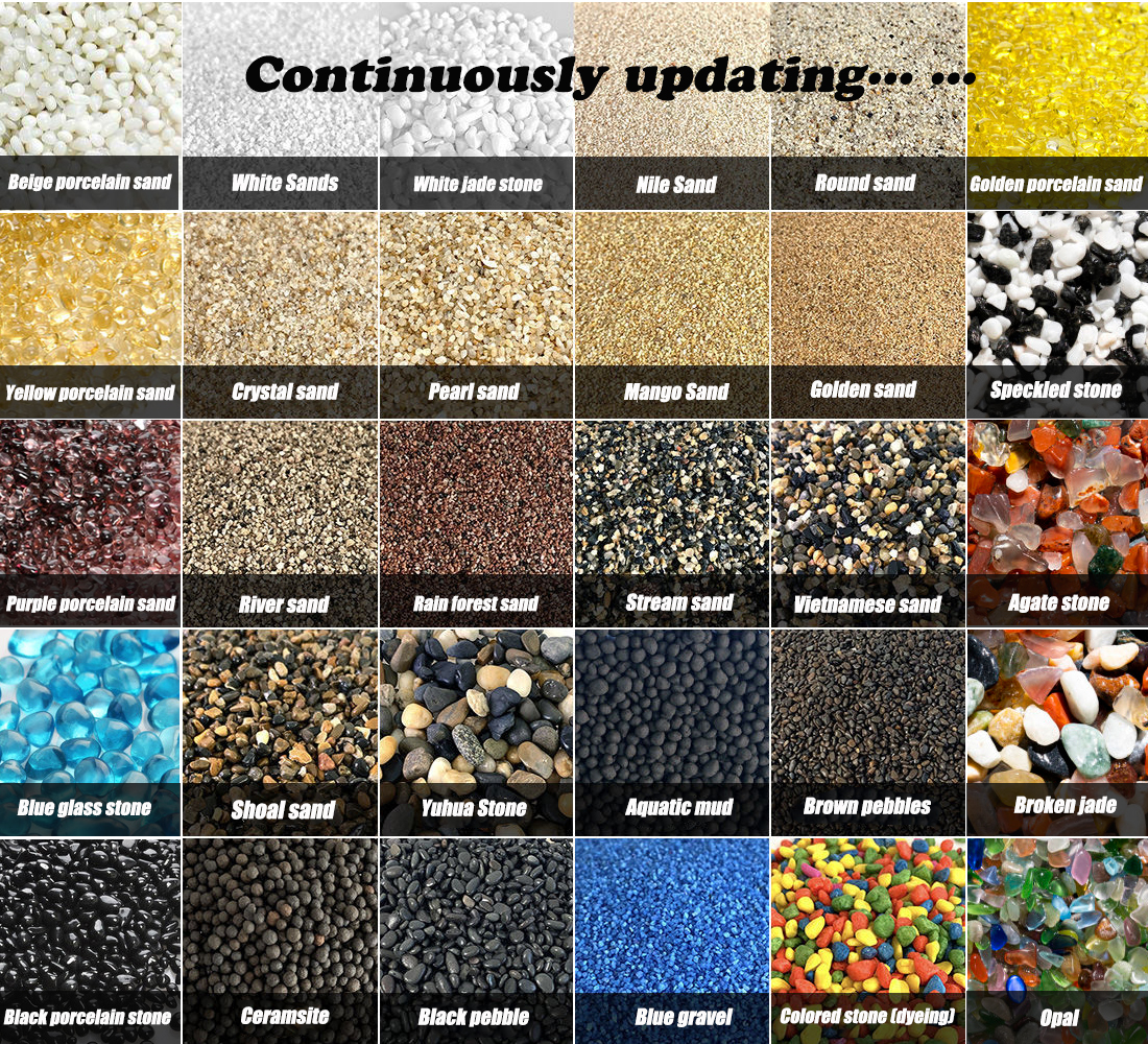 River Rock Stones Natural Decorative Polished Mixed Pebbles Gravel sand  for Potted plants Aquariums Landscaping Outdoor garden