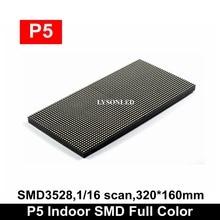 P5 מקורה SMD3528 מלא צבע LED תצוגת מודול 320*160mm RGB 3 IN 1Led פנל 64*32 פיקסלים