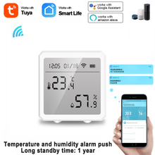 Tuya Smart Home Temperature And Humidity Sensor Ultra-low Power Consumption With LCD Screen Works With Alexa Google Assistant