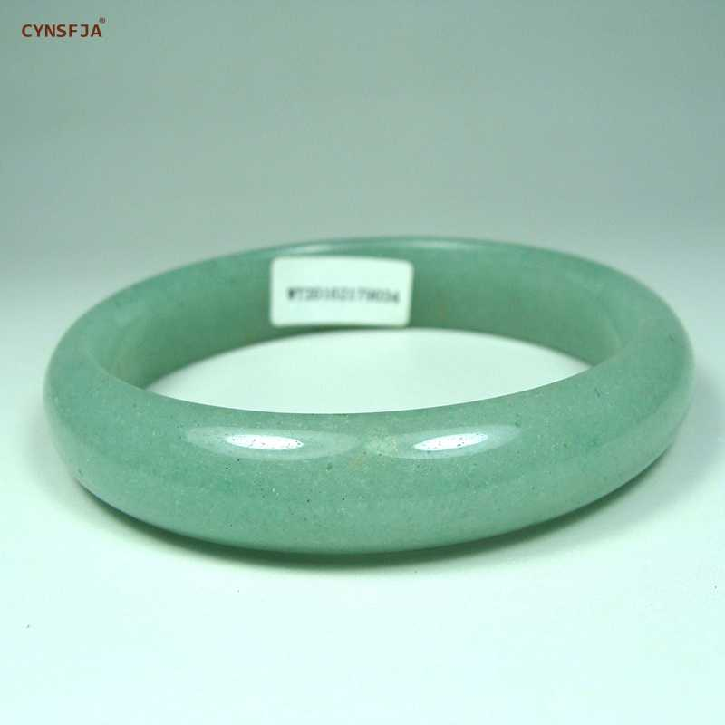 CYNSFJA Real Certified ナチュラルグリーンジェイドバングルブレスレット 53 ミリメートル-62 ミリメートル護符チャーム高品質ファインジュエリーワンダフルギフト