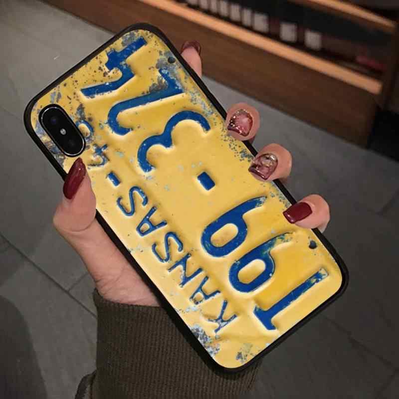 Yinuoda Supernatural 라이센스 플레이트 번호 커버 케이스 Iphone 5s Se 6 6s 7 8 Plus X Xs Max Xr 11 Pro Max 전화 액세서리