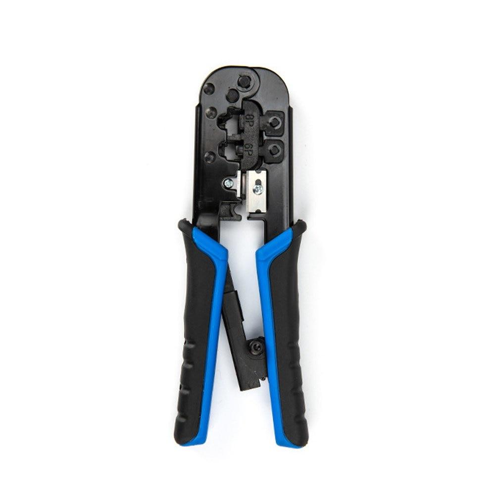RJ45 Crimper Tool RJ11 Cat5e Cat6 Cable Crimping Tool Network Pliers Tool 8P/6P Multi-function Cable Pliers Peeling Shear