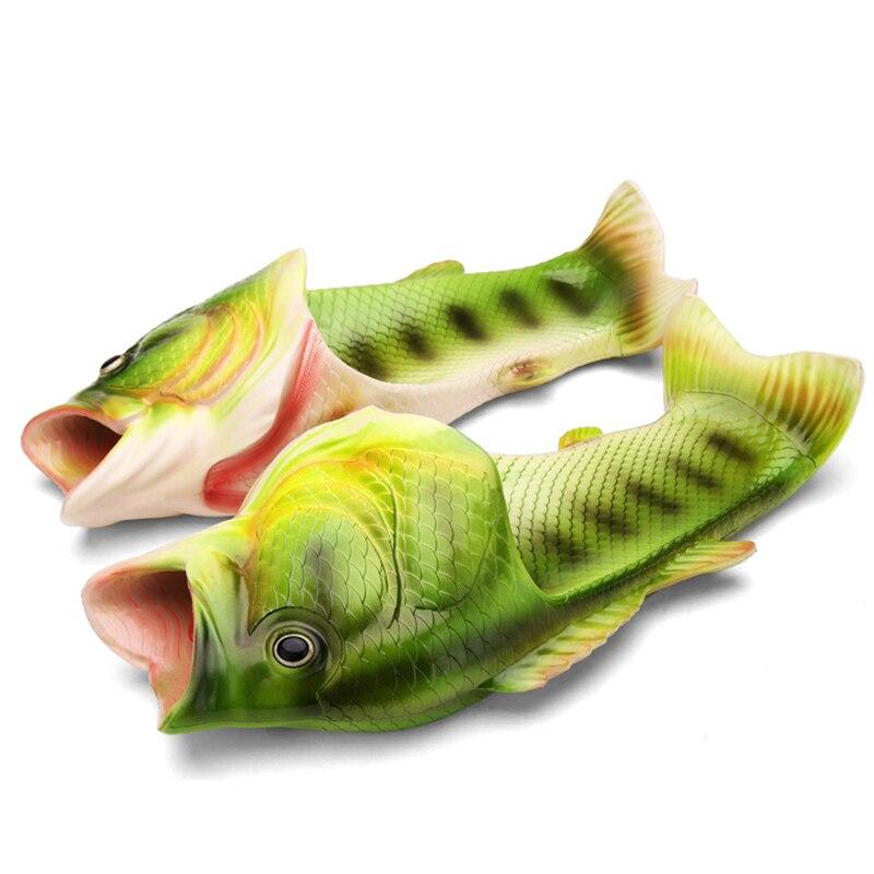 High Quality EVA Fish Slippers Men Summer Shoes 2020 Fashion Designer Fishing Slippers Unisex Green Shoes