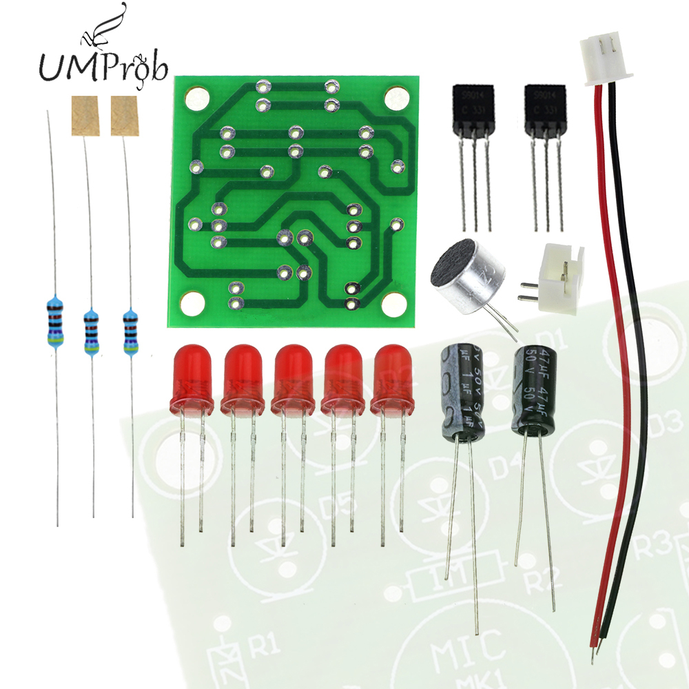 Voice Control LED Melody Light LED DIY Electronic Production Kit Component Parts for Diy Kiy school education lab