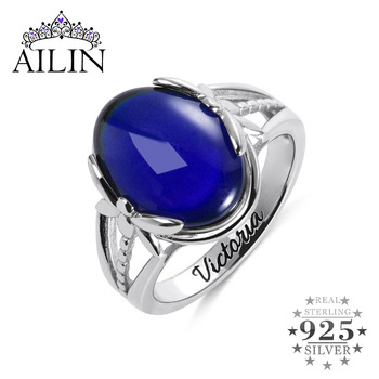 AILIN Dragonfly Mood Ring Color Change Emotion Feeling Changeable Stone Temperature Ring Halloween Christmas Gifts Custom Words