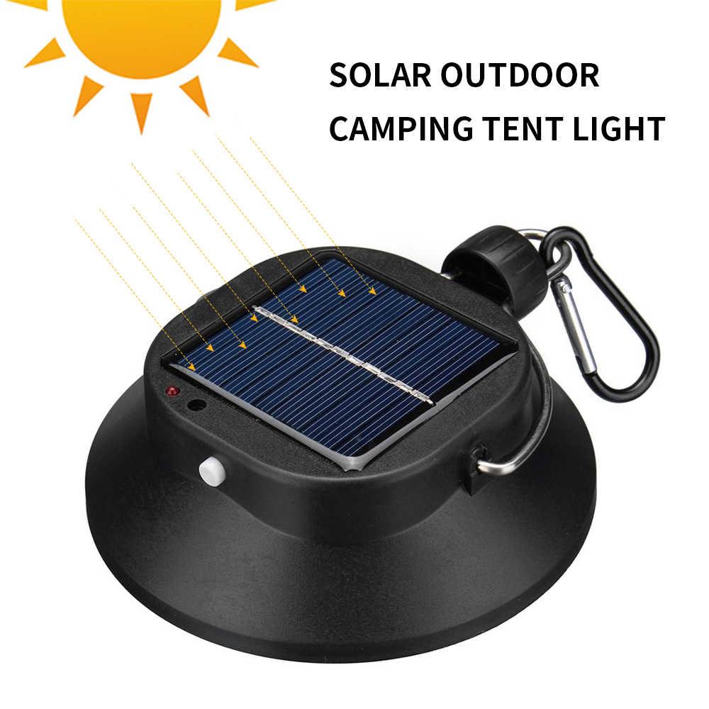 Junejour noite lâmpada 28 led acampamento caminhadas tenda luz recarregável ao ar livre portátil movido a energia solar