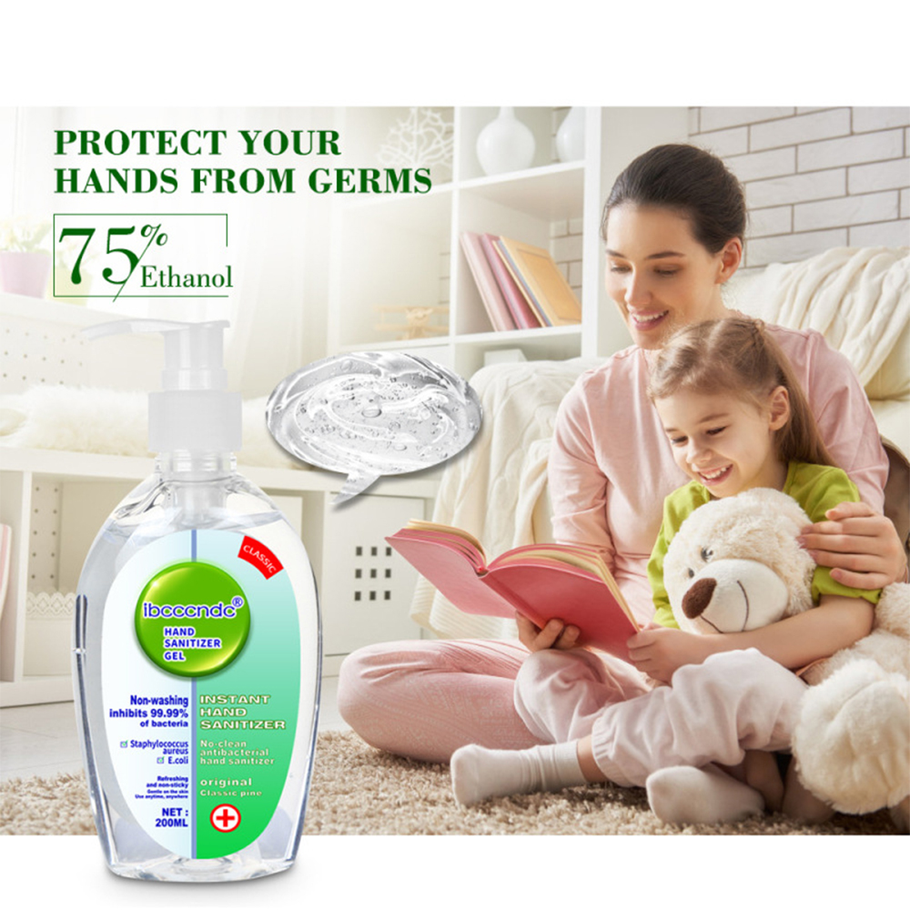 200Ml Disposable Quick-Dry Wipe Out Bacteria Hand Sanitizer Gel Travel Portable Antibacterial Disposable Disinfection Gel