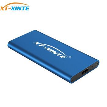 XT-XINTE USB3.1 SSD Type C MSATA Enclosure Case 10Gbps High Speed Hard Disk Box Cable Support 30*25 30*50 Mini SATA 4TB