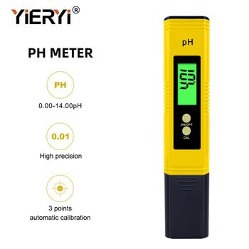 yieryi Digital LCD PH Meter Pen Tester Accuracy 0.1 Aquarium Pool Water Wine Urine Automatic Calibration digital atc ph meter tester water food fishing tank quality analyzer lcd pen ph monitor automatic calibration glass electrode
