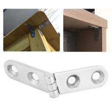 купить Folding Furniture Hinge Stainless Steel Hinge for Table Legs Doors Window Installing Hardware Left/Right Hinge по цене 188.88 рублей