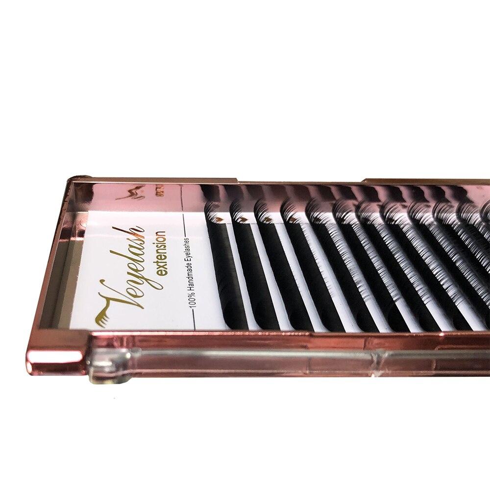 Veyelashes Individual Lash 100% Handmade 3d Volume Eyelash Extension Natural Long Korea Silk Mink Individual