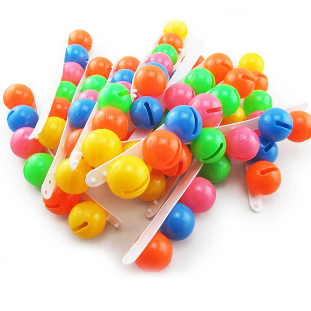 พลาสติกที่มีสีสันมือเท้า Ball Rattle ของเล่นเสียงสร้อยข้อมือเด็กอนุบาลของขวัญ Perfect ของขวัญเด็กอุปกรณ์