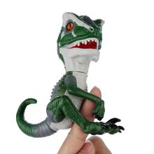 Hotty Toy Fingertip Dinosaur Electronic Pet Interactive Toy Domesticated Raptor Bruce  Kids Xmas Gift Toys for Children printio цветные монстры