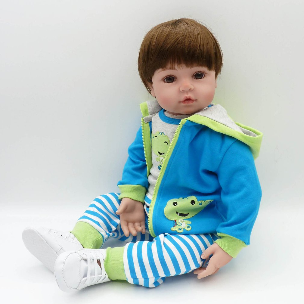 Hot! NPK 58cm Full Body Soft Silicone Reborn Baby Doll Toys Babe Reborn BabyDoll Non-toxic Safe Handmade Playmate Gift For Girls
