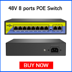 Hiseeu 48V 8 Ports POE Switch with Ethernet