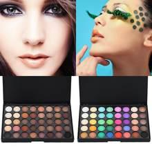 40 cores matte shimmer sombra paleta longa duração à prova dwaterproof água pó sombra olho maquiagem kit fácil de usar tslm1