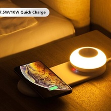Mobile Phone Wireless Charge LED Table Lamp Dimming Separate Magnetic Suction