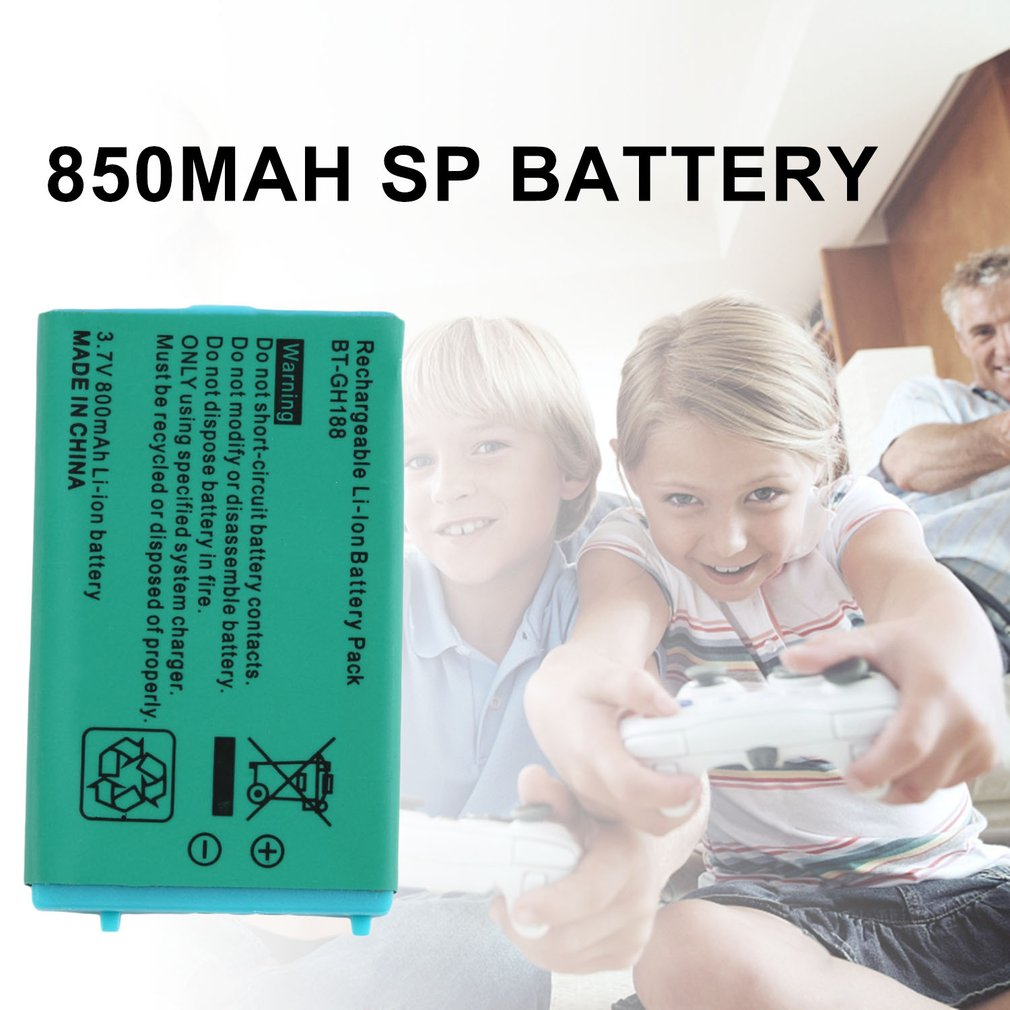 850mAh Battery For Nintend GBA SP GameBoy Advance 3.7V Li-Ion Lithium Rechargeable Batteries With Free Tool Wholesale Dropship
