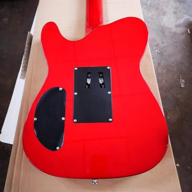 FDTL-2048 red color white binding solid  body with quilted maple venner cover rosewood fretboard  TL electric guitar, Free shipping 5