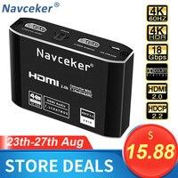 4K Hdmi Naar Rca Audio Extractor Spdif Hdmi Audio Converter Adapter Av Rsa Ondersteuning 4K @ 60Hz rgb 8:8:8 Hdcp 2.2 3.5Mm Jack Toslink