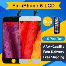 10 יח\חבילה AAA + + + עבור IPhone 6 LCD תצוגת מסך Digitizer עצרת החלפת Pantalla לא מת פיקסל 4.7 מושלם תיקון מסך