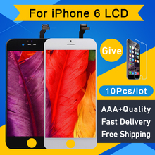 10 +++ Pçs/lote AAA Para IPhone 6 LCD Screen Display Substituição Digitador Assembléia Pantalla Sem Tela Reparação Pixel Morto 4.7 Perfeito