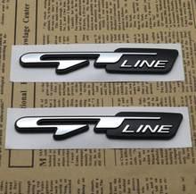 Linha de Etiqueta do carro GT Letras Decalques Para Megane Renault Duster Logan Fluence Clio Laguna 3 Captur 2 Kadjar