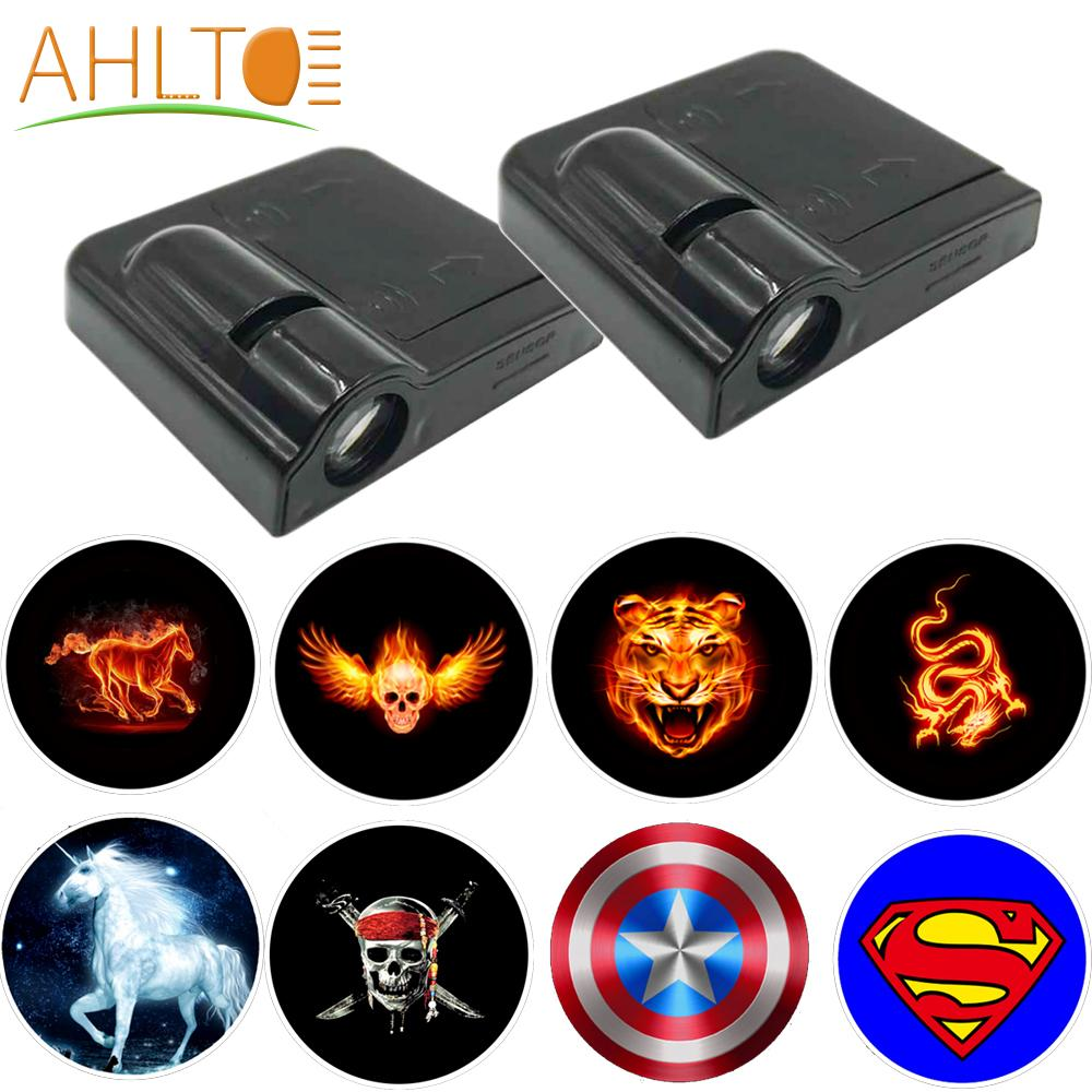 Welcome Light Car Door Logo Decor Lamp Laser Shadow Lamp Projector Light Atmosphere Car Light Car Accessories