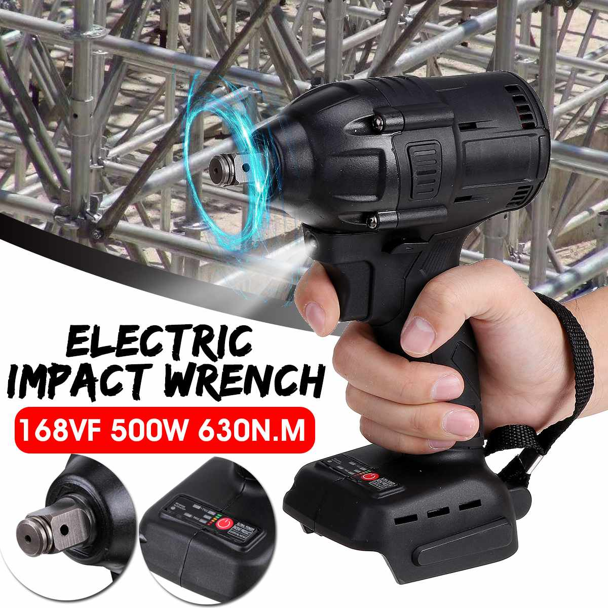 Doersupp Wrench Cordless Driver Makita For Impact Battery 18V Wrench 2 18V Li Ion  500W Electric 1 Replacement 630N M