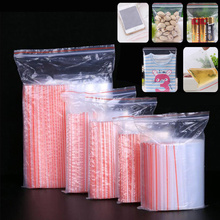 100pcs Multiple Sizes Small Zip Lock Plastic Bags Reclosable Transparent Storage Beads Jewelry Bag Christmas Candy Snack Bags