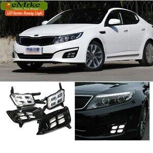 Image 2 - EEMRKE Car LED DRL For Kia Optima K5 TF 2014 2015 Xenon White Day Light Fog Cover Daytime Running Lights Fog Lamp Assembly