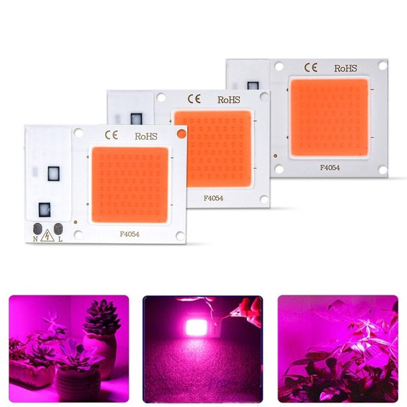 Светодиодный Grow COB Чип Фито лампа полного спектра мощностью 10 Вт, 20 Вт, 30 Вт, AC180-265V для комнатных растений рост рассады и цветок роста