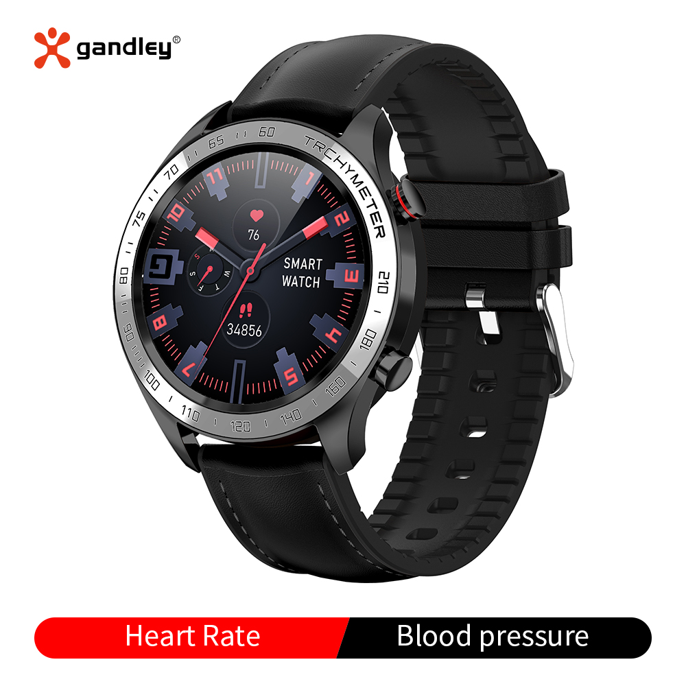 R5 2020 Full round touch smartwatch with Heart rate monitor Multi-Sport Mode Menstrual reminder <font><b>IP</b></font> <font><b>68</b></font> wateproof smart watch image