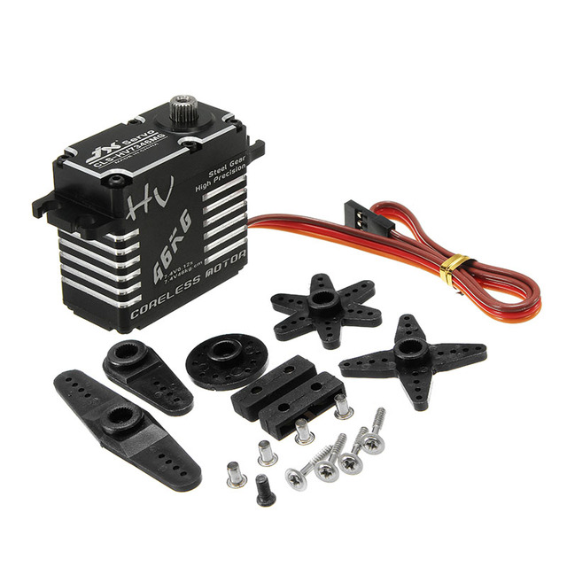 Jx CLS-HV7346MG HV7346MG  46KG HV Steel Gear Full CNC Aluminium Shell Coreless Servo for RC Car Truck Helicopter Robot