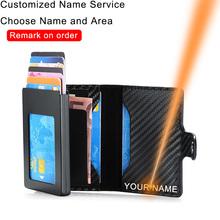DIENQI Rfid skórzane męskie portfele z etui na karty Slim cienki Mini inteligentny portfel czarne modne męskie portfele małe Walet nowe tanie tanio CN (pochodzenie) Krótki 0 14 kg Skóra syntetyczna Polyester Plaid Biznes C2008H1 Posiadacz karty 7 5 cm 10 7cm zipper