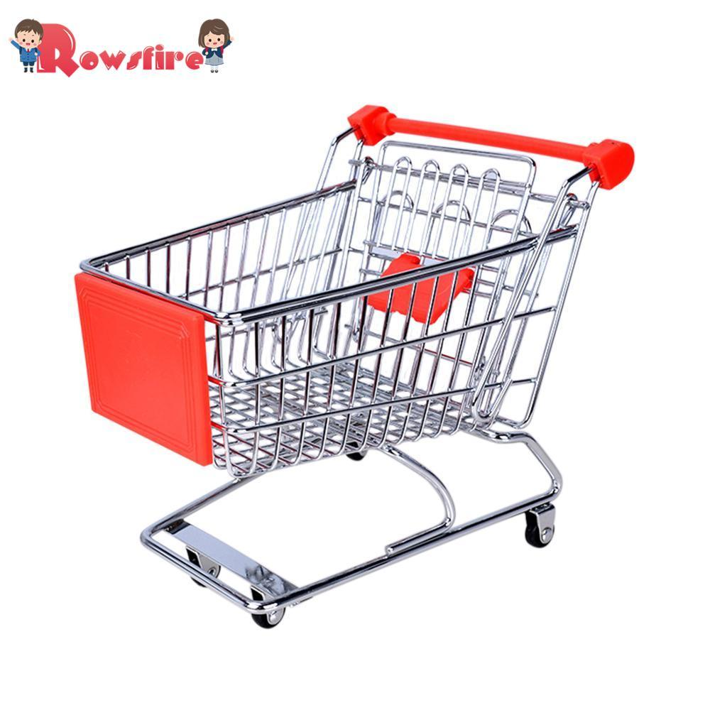 Creative Mini Children Handcart Simulation Small Supermarket Shopping Cart Utility Cart Pretend Play Toys Strollers 12*8.5*11cm