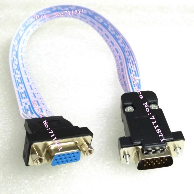 Кабель-удлинитель VGA D-Sub «штырь-гнездо», удлинитель с разъемом D-Sub VGA, короткий 15P HDB15 «штырь-гнездо», удлинитель провода