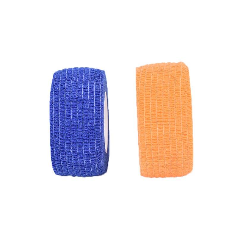 กีฬาด้วยตนเองกาวผ้าพันคอผ้าพันคอ Elastomer สำหรับเข่าสนับสนุนแผ่นนิ้วมือข้อเท้าปาล์มไหล่