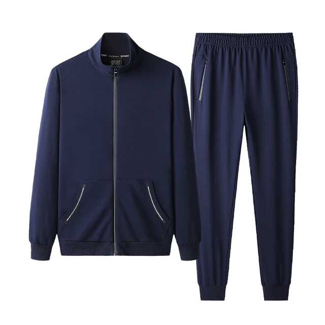 Autumn Sportswear Tracksuits Men Sets Large Size Men's Clothing Jacket+pants 2 Pieces Sports Set Plus Size 8xl 7xl Tracksuit Man 3