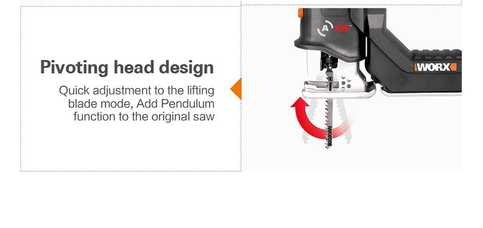 Pivoting head design