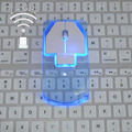 2 4 GHz беспроводная мышь прозрачная ультра тонкая светящаяся оптическая мышь для ПК ноутбука NC99