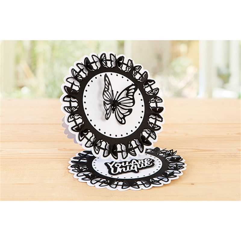 You Are Unique Circle Butterfly Frame Metal Cutting Dies For DIY Scrapbooking Embossing Paper Cards Making Crafts 2019 New Dies