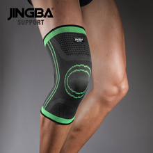 лучшая цена JINGBA SUPPORT Sport Running protector knee brace support Elastic Nylon Compression knee pads Basketball Volleyball rodillera