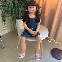 98cm Boneca Reborn Baby Doll Toys Real Life Ratio Bebe Reborn Corpo De Silicone Inteiro Reborn Toddler Girl Photo Props Juguetes