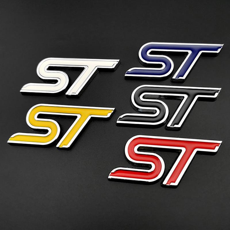 Metal 3d estilo do carro emblema st emblema adesivos 7.5x3.5cm