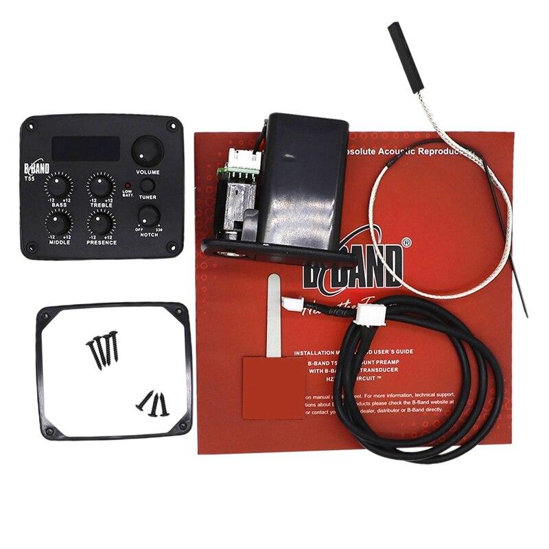 Qualité guitare acoustique pick-up EQ accessoires de guitare B-BAND T55 pick-up accordeur électronique plateau de jeu accessoires de guitare