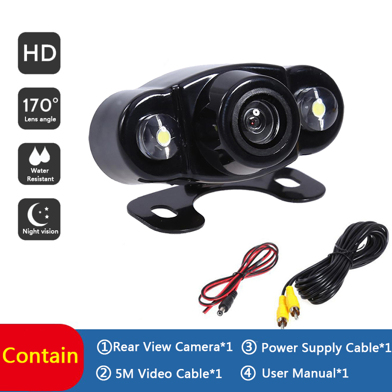 Strong 2 LED Car Rear View Camera Backup Parking Camcorde HD Night Vision Viewside Reverse Reversing Monitor Car Cam For All Car