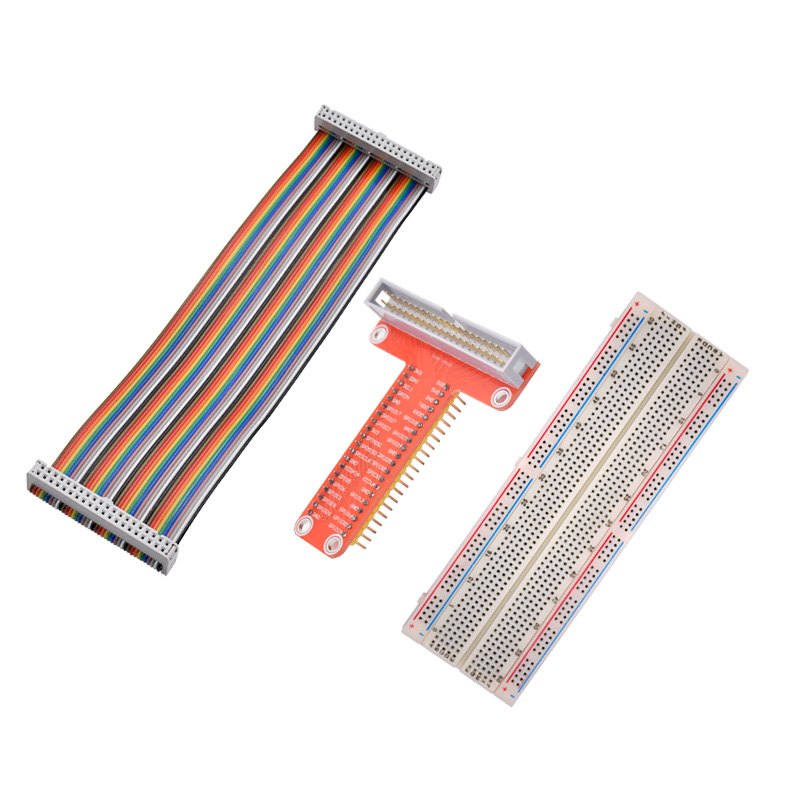 Hot Sale Raspberry Pi Expansion DIY Kit (GPIO Cable+ 830 Points Breadboard + GPIO Plate)