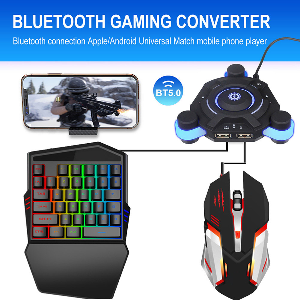 Bluetooth Gaming Keyboard Mouse Converter Game Adapter For IOS Android System PUO88